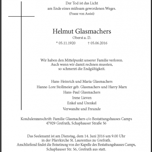 Helmut Glasmachers