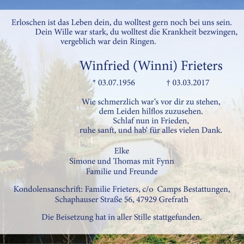 Winfried (Winni) Frieters