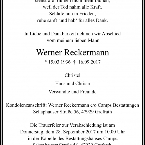 Werner Reckermann