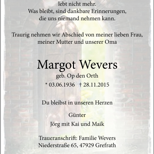 Margot Wevers
