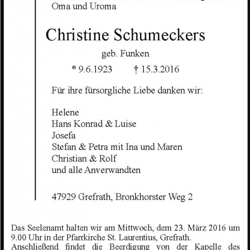 Christine Schumeckers