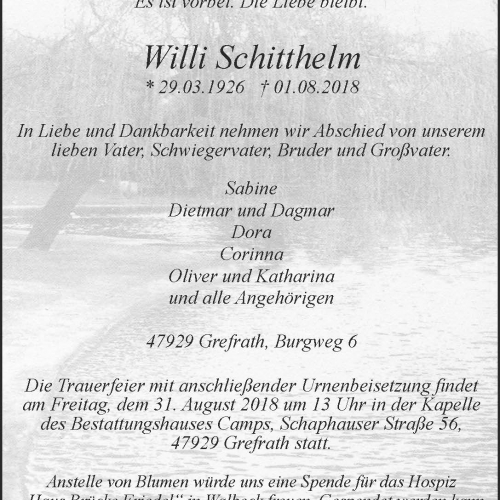 Willi Schitthelm